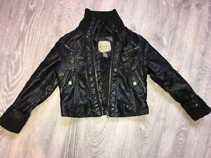 Blouson veste manteau ZARA KIDS 4ans 5 ans 110 cm - simili cuir noir TBE