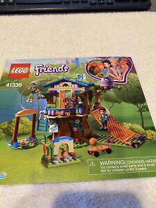 """LEGO  41335  FRIENDS  """"Mia's Tree House"""" MANUAL, NO BRICKS"""