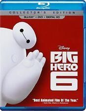 Disney's Big Hero 6 (Blu-ray/DVD, 2015, 2-Disc Set)
