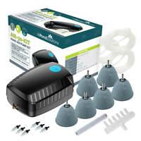 Outdoor Koi Fish Pond Air Pump Kit Free Air Stones, Air Hose, Return Valve 30L/M