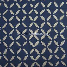 10 Yard Indigo Blue Batik Fabric Handmade Tribal Fabric Vintage Style Craft