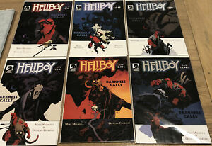 HELLBOY DARKNESS CALLS # 1 - 6 Full Set Dark Horse Comics 2007 Hellboy BPRD Bulk