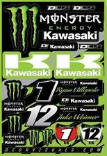 NEW Kawasaki Monster Energy® Team Sticker Decal Set