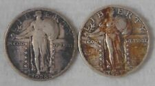 LOT(2 COINS)1927 & 1928 Standing Liberty Silver Quarter 25 Cents, VERY FINE / XF