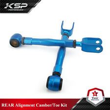 FOR 370Z Altima G35 G37 Sedan Coupe BLUE ADJUSTABLE REAR TOE TRACTION ARM KIT