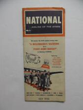 1956 National Airlines Airline Timetable July NAL Vintage Original