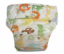 Adult Baby Cloth Nappies for ABDL Cute Fluffy Adult Diaper Minky Jungle Animals