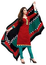 New Pakistani Stitched Indian Ready Made Red Cotton Salwar Kameez Suit US Seller