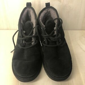 Men's UGG Neumel Suede Wool Chukka Boots Black Size 10 Shoes Lace Up Uggs