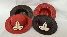 """Sombrero de Guano Pintado de 4"""" para Eleggua - religion Yoruba ifa Santeria"""