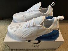 Nike Air Max 270 Running Shoes Men's Size 11 White/White Photo Blue AH8050 105