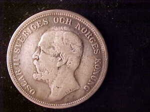 SWEDEN 2 KRONOR 1893 CLEANED