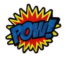 ab82 - POW Aufnäher Bügelbild Patch Comic Sprechblase Superheld DIY 10 x 9 cm