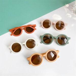 Classic Kids Eyeglasses Round Frame Plastic Sunglasses UV400 Protection Unisex