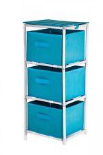Fabric Dresser with 3 Drawers Fabric Shelf Bathroom Shelf Bathroom Kommode NEW