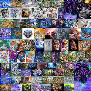 DIY 5D Diamond Painting Tigers Cross Stitch Hand Embroidery Art Decor Craft Kit