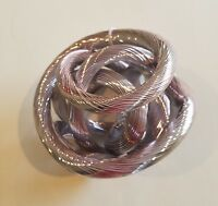 Metallic Pink Twisted Love Knot Collectible Art Piece Paperweight