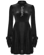 Punk Rave Gothic Witch Mini Dress Black Velvet Occult Moon Astrology Embroidery