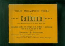 1900 Booklet Raymond Whitcomb  California Mid-Winter Tours