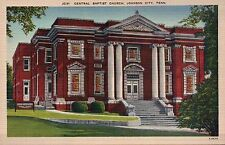 Church Johnson City Tennessee TN - Great for Postcrossing - Old Linen Postcard