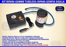 Kit emergenza auto ripara gomme forature pneumatici compressore forature con