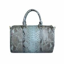 TALLI Women Girls Snakeskin Real Genuine Python Leather Handbag Tote Boston Bag
