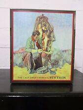 New Stetson Hat Box Factory Standard Western Cowboy Case Cardboard