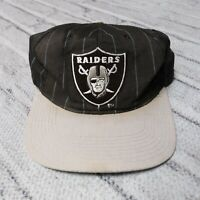 Vintage 90s Oakland Raiders Pinstripe Snapback Hat by Starter Cap Los Angeles