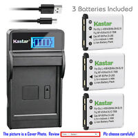 Kastar Battery LCD Charger for Fujifilm NP-45 NP-45A BC-45 & Fuji FinePix J38