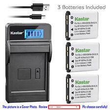 Kastar Battery LCD USB Charger for Olympus Li-40B Li-42B & Olympus FE-280 Camera