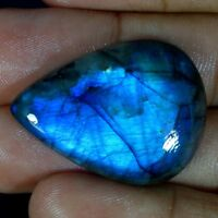 Madagascar Blue Fire Labradorite Pear, Marquise, Fancy Cabochon Loose Gemstone