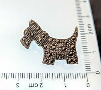 Adorable Vintage Sterling silver Marcasite Scottish Terrier Dog Brooch