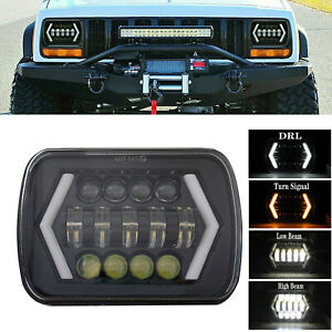 7x6 5X7 H6054 LED Hi/Lo Beam DRL Headlight For Chevrolet Jeep Cherokee XJ YJ