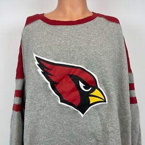 Mitchell And Ness Arizona Cardinals Post Season Crewneck Sweatshirt NFL Sewn 5XL