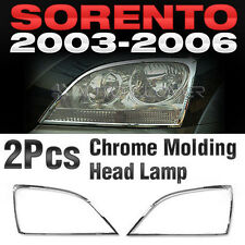 Chrome Head Light Lamp Garnish Molding Cover Trim A370 For KIA 2003-2006 Sorento
