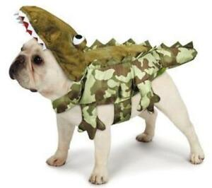 NEW Green Camo Alligator Hooded Dog Costume Halloween (Choose XS or S)
