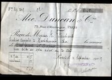 """PARIS (XIX°) MATERIEL AGRICOLE / CHARRUES """"Alec DUNCAN & Cie"""" 1909"""