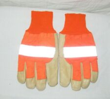 """UNION PACIFIC ISSUED MEN'S PIGSKIN LEATHER INSULATED WINTER GLOVES """"LARGE"""""""