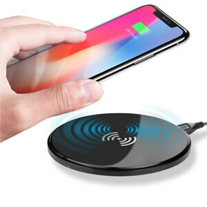 Qi Wireless Charger Slim Charge Pad For iPhone 11Pro XS X Max 8 Plus Samsung S10