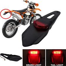 Universal Enduro Fender LED Stop brake Rear Tail Light Lamp for XR DRZ KLX KMX