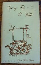 Spring Up O Well Lucy Ellen Eaton Rare Canadian Poetry Inspirational Undated