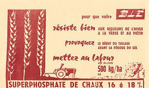 Buvard ancien superphosphate de chaux 16 à 18%