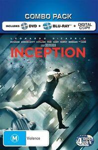 Inception Blu Ray + DVD Region 4 (VG Condition)