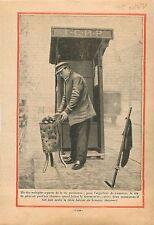 l'Aiguilleur de Tramways Parisien Brasero Boulevards de Paris 1931 ILLUSTRATION
