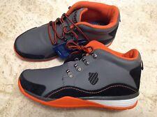 K-Swiss Sample Hi Tops Mens Athletic Shoes Size 9 Black/Grey/Orange New