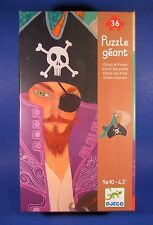 Djeco Elliott the Pirate Giant Geant Jigsaw Puzzle 36 Pieces Parrot MINT NIP