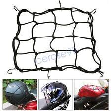 6-Hooks Black Motorcycle Motorbike Bike Cargo Luggage Bungee Cord Net 30x30cm