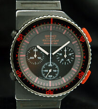 SEIKO Chronograph SPORTS 100 BISHOP ALIENS 7A28-6000 Rare GIUGIARO WATCH 80s VTG