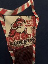 vintage 80's naughty stocking coal you been naughty 1984 christmas decor