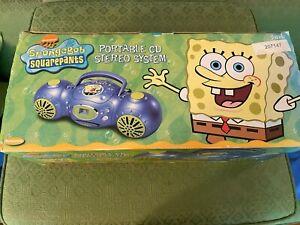 "NEW!! Spongebob Squarepants ""YOU READY TO ROCK"" Radio CD Player SB251 ~ 2003"
